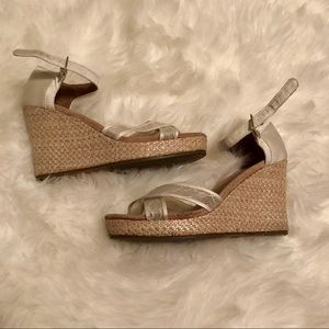 TOMS glitter lacy wedding wedge